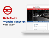 Delhi Metro Website Redesign - UI & UX Case study