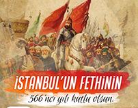 İstanbul'u Fethinin 566'ncı yılı kutlu olsun. #istanbul