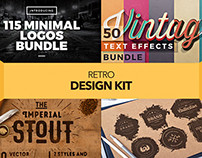 Retro Design Kit – Logos, Fonts, Textures and more!