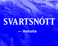 SVARTSNŌTT Website 2015—2017