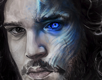 Jon Snow As Night King Illustration