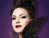 Evil Queen   Low Poly Illustration