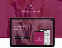 landing page to fashion app