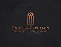 Enoteka Pergamin logo & identity