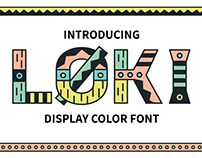 Loki Display Color Font