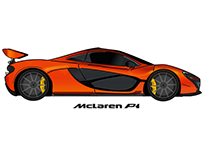 McLaren P1 Illustration