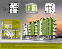 High-rise apartment building (60 apartments)