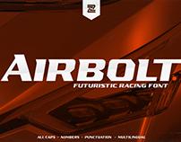 airbolt futuristic racing font