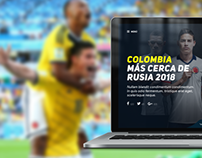 Federación Colombiana de Fútbol / Landing Page Concept