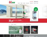 Gülcam Web Sitesi tasarım Çalışması