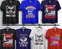 cat t-shirt design bundle.