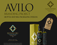 AVILO Branding Project - Bottle & Bag Designs