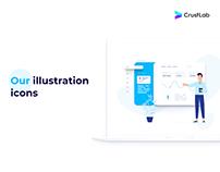 CrustLab's website illustrations