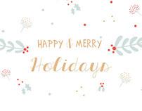 Merry holidays card