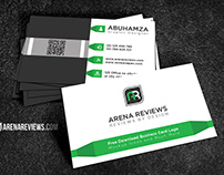 Free Modern White & Green Corporate Business Card
