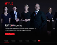 Netflix TV Show Page – House of Cards