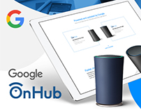 Google OnHub Landing Page Design Concept