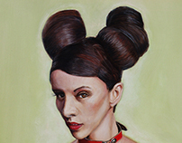 Mouse Girl - Oil on Canvas