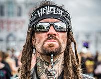 Portraits de festivaliers au Hellfest