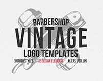 Vintage barbershop logo templates +(6 Free logos)