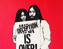 Deception Is Over - screenprint