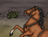 War Horse book illustration