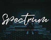 Spectrum Handwritten Font