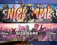2 FREE FORTNITE YOUTUBE BANNERS 2018 DOWNLOAD