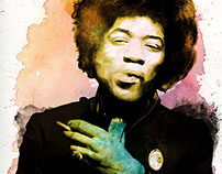 Jimi Hendrix - Whatercolor