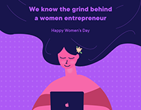 Happy Women's Day - Entrepreneur Women Illustration
