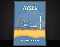 Coney Island Illustration