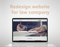 Redesign website for law company