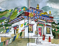 """Nepal Naturally"" Sketch book"