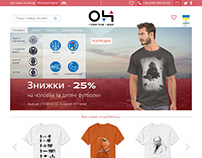 design of T-Shirt e-commerce webpage