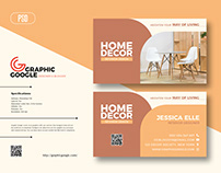 Free Interior Business Card Design Template