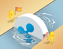 Editorial Illustration: Euro and Malaysian Ringgit