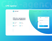 Сorporate identity and landing page for the CPA-agency