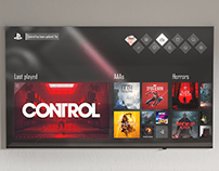 PS5 · Dashboard UI concept