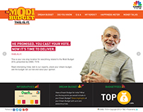 Website The Modi Budget - This.Is.It for CNBCTV18