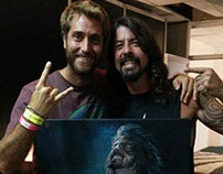 Painting for Dave Grohl