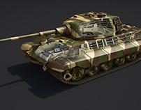 King Tiger. Battle of the Bulge, 1944-1945
