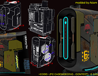 Cyberpunk pc case mod