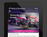 BT Media & Broadcast - website design