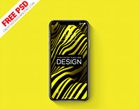 iPhone-X Realistic PSD Mockup Freebie