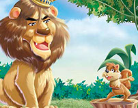 chilldren illustration Lion children book