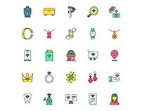 Jeweler Icon Set