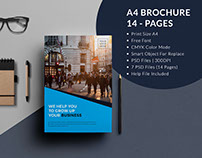 A4 Business Brochure Template - 14 Pages