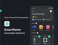 Smart Home App -UI UX design case study