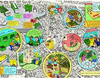 Ilustraciones para revista Barrio Santiago