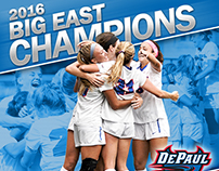 Women's Soccer 2016 Big East Champions banner